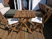 Ikea bistro set with seat cushions