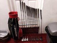 Golf clubs-Full matching set of SOLEX Driver, 3 & 5 Woods, Irons (3 Iron-SW) Putter-bag, balls&more