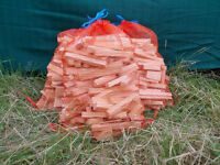 Kindling wood in large bags