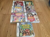 Nintendo DS games - 7 in total - ideal for girls