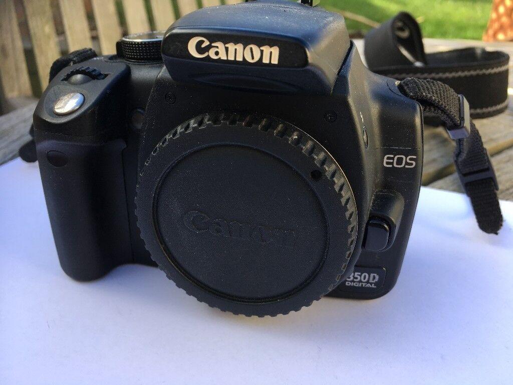 Vgc Canon Eos 350d Rebel Xt Kiss Digital N Camera Body Battery