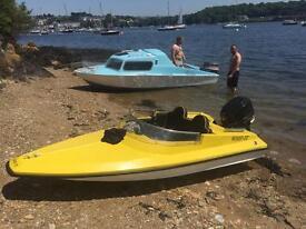 9ft speed boat 25hp mariner boat