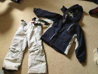 Firefly blue/grey jacket salopette set 6 yrs