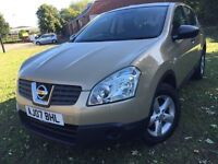 \\\ 07 NISSAN QASHQAI 1.6 VISA \\\ IMMACULATE \\\ ONLY £3999 ,