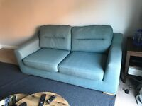 **FREE**DFS DUCK EGG BLUE 3 SEATER SOFA GREAT CONDITION MUST GO BY WEDNESDAY EVE