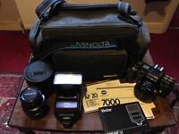 Minolta 7000 SLR auto focus camera