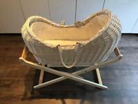 Mothercare Apples and Pears Moses Basket and stand