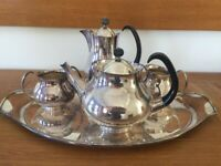 5-Piece Silver Plated Tea/Coffee Set by Eric Clement C.1960