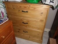 Light Pine quality chest of drawers will fit in any room