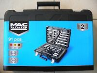 = 91 piece socket set with spanners =