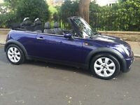 2005. MINI COOPER CONVERTIBLE LEATHER TRIM POWER ROOF RECENTLY SERVICED MINI COOPER CABRIOLET ONE S