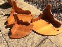 Solid pine wooden shelves