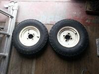 "2 x Trailer Wheels & Tyres 10"" Classic Mini Style"