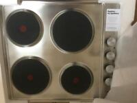 Brand New Lamona Electric Solid Plate Hob Stainless Steel