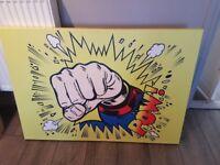 Pop Art, canvas print, Superman. £30