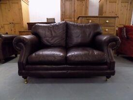 Brown Leather Thomas Lloyd Consort 2 Seater Sofa