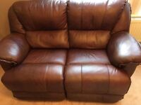 Egyptian brown leather electric power recliner