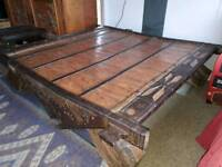 Indian Ox Cart Coffee Table