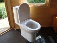 Iflo Rhea WC comfort height pan, cistern and soft-close seat. Immaculate condition / as new.