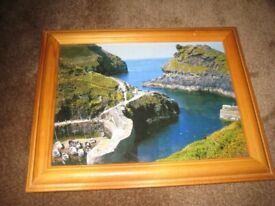 Beautiful Colour Coastal Scene in Wooden Frame for £5.00