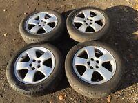 """Audi A3 16"""" alloy wheels - good tyres"""