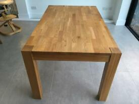 Debenhams Solid Oak 6 Seater Dining Table