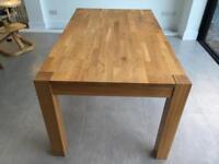 Debenhams Solid Oak 6 Seater Dining Table