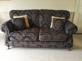 SOFA 3 PIECE SUITE - NAVY IN VERY GOOD CONDITION