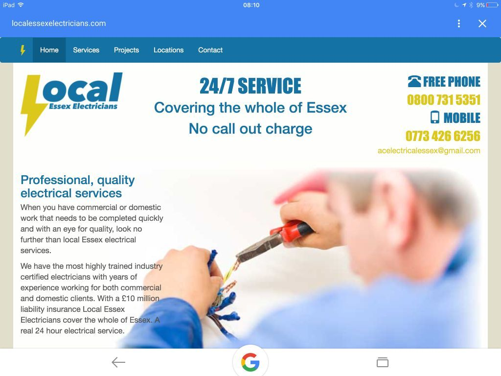 local essex electricians cover all essex estimates no call local essex electricians cover all essex estimates no call out charge 24 7 all