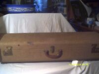 TROMBONE CASE , GOOD HANDLES , CATCHES AND HINGES , PLUSH INTERIOR a SOLID CASE +++