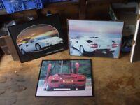"3 framed pictures Lamborghini Countach. 16"" x 20"""