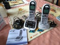 BT 4500 twin large button phones with answer machine