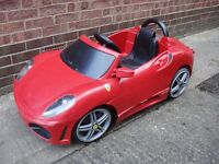 Kids Red Ferrari F430 Ride On Toy Car, Made By Feber, Non Working, Have Charger, Can Deliver
