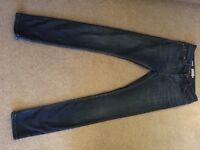 Topman spray on blue skinny jeans size 28 regular