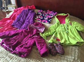 Girls outsoor wear bundle age 2-3 including coats