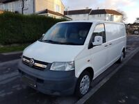 Vw t5 lwb .. 12 months mot.. lined..insulated...custom bed..