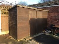 "Garden Shed 4ft x 9ft 6"" Approx. ONLY SELLING DUE TO BEREAVEMENT. COLLECTION ONLY - MANSFIELD AREA"