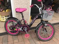 "Girls bike. 16"". With stabilisers."