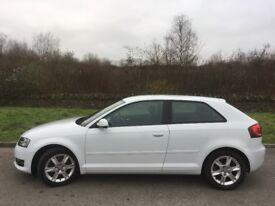 white Audi A3 SE