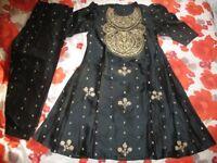 Black and Gold Party Salwar Kameez