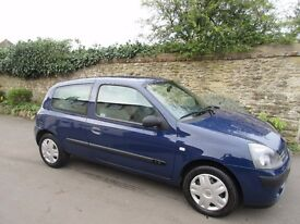 RENAULT CLIO 1.2 RUSH 3 DOOR 2005 FULL HISTORY LONG MOT ONLY 31K MILES.