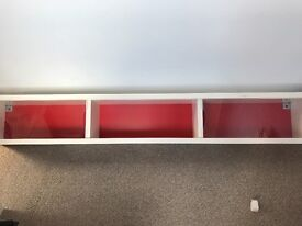 IKEA red & white wall unit