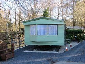 Atlas caravan for sale on a caravan park in the heart of Mid Wales