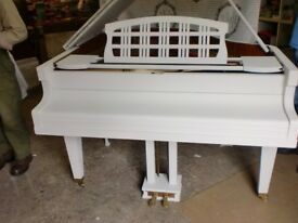 ritmuller german painted shabby chic light gray 5ft baby grand £1800 can deliver