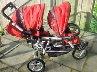 JANE POWER TWIN DOUBLE PUSHCHAIR WITH JANE CAR SEAT TRAVEL SYSTEM UNISEX