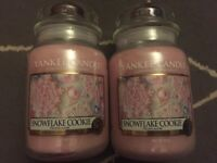 2 x Yankee candle Snowflake Cookie