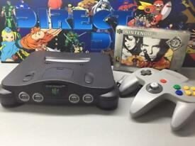Nintendo 64 n64 all leads and controller