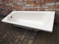 Bathroom Suite - Shell theme (Bath,Basin/pedastal,Toilet/Cistern in light cream colour -