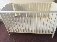 Child's cot used only a few times