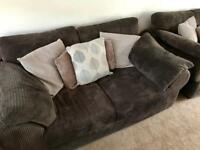 2 seater brown cord sofa needs to be gone by Friday 1st December